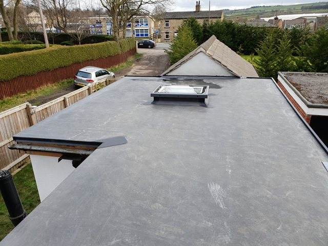 Extension flat roof with skylights Normanton