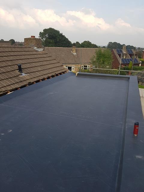 Rubber membrane roof in Ossett