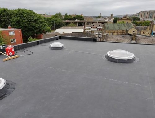 Finished Roof with Skylights