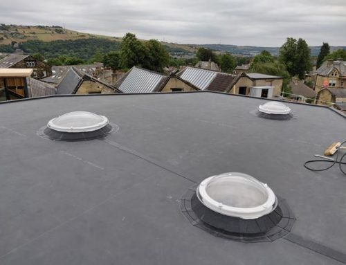 Finished Flat Roof With Rooflights