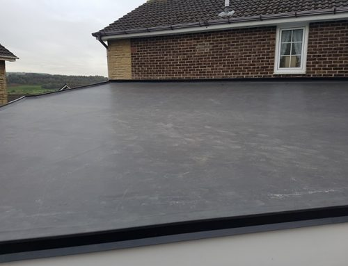 Flat EPDM Roof After