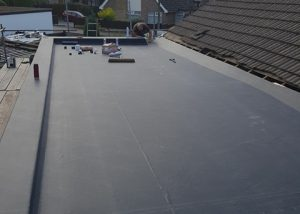Finished flat roof project Wakefield