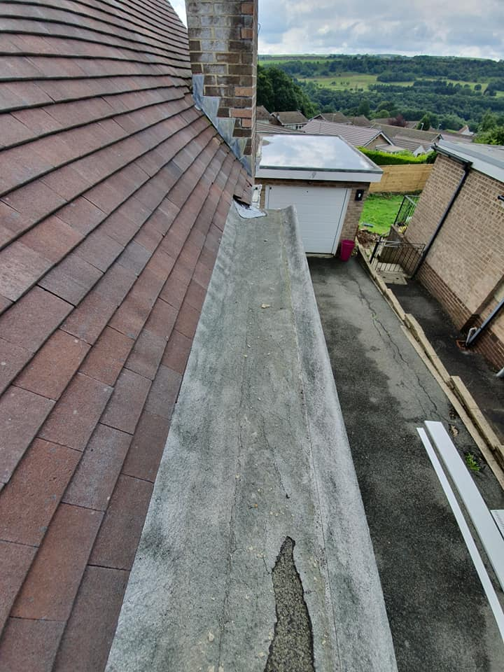 Before Porch Roof Replacement Greetland | Permaroof Wakefield