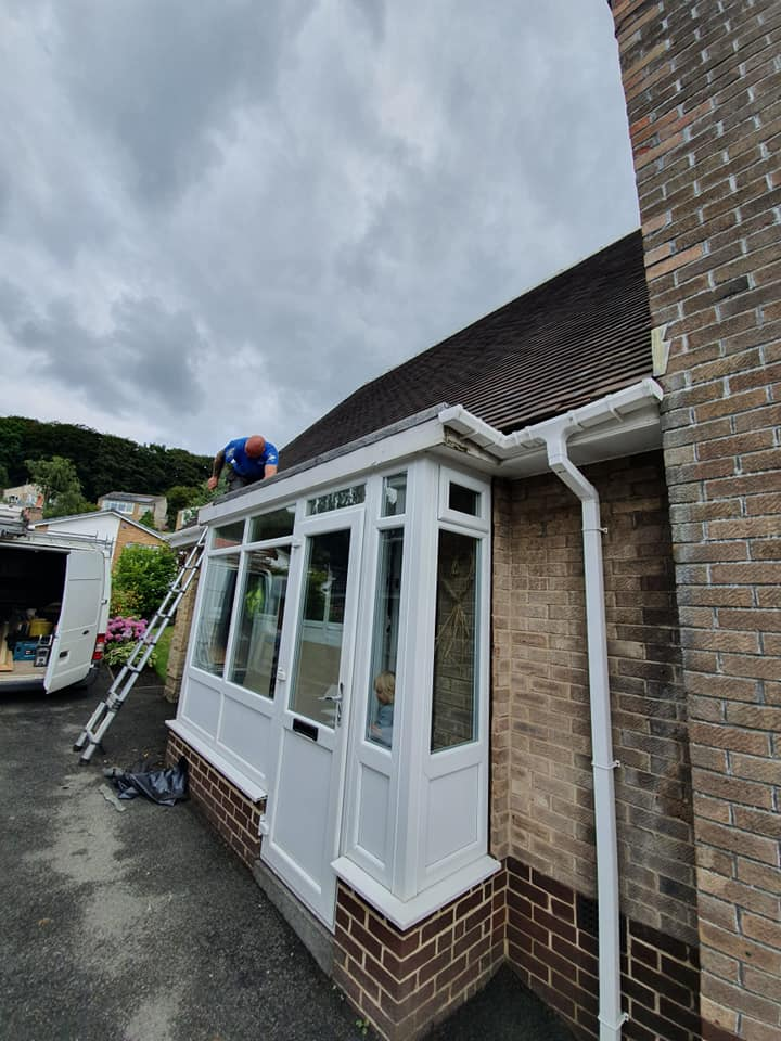 Working on Porch Roof Replacement Greetland | Permaroof Wakefield